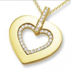 18K Forever love diamond pendant