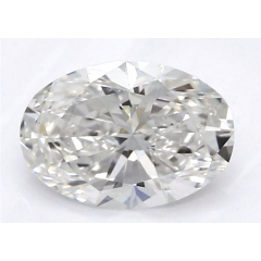 0.51 Carat H SI1 Oval Lab Created Diamond