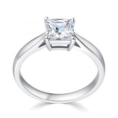 Classic Princess cut solitaire Engagement Ring. SETTING ONLY