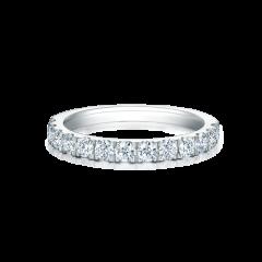 Classic scallop set diamond wedding ring