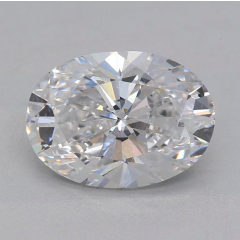 2.18 Carat E SI2 Oval Lab Created Diamond