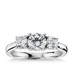 Classic 3 stone engagement ring. SETTING ONLY