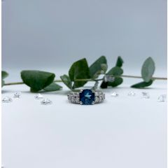 Beautiful London Blue Topaz ring. ONE ONLY