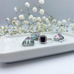 Stunning Diamond Amethyst dress/engagement ring