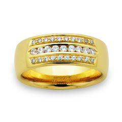 Unisex diamond dress/wedding ring