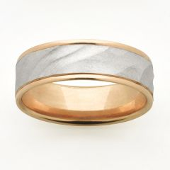 Textured two tone wedding/dress ring
