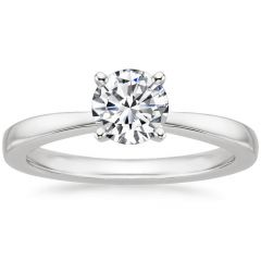 Classic tapered engagement ring. SETTING ONLY