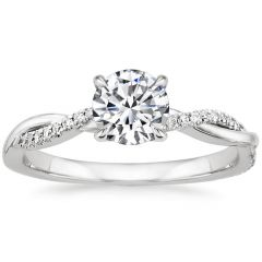 Twist diamond engagement ring. SETTING ONLY