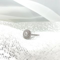 DS SIGNATURE DOUBLE HALO Pear RING. AT COST!
