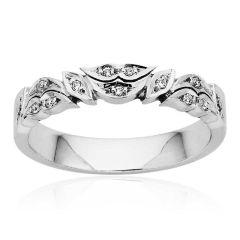 Custom pave set diamond ring