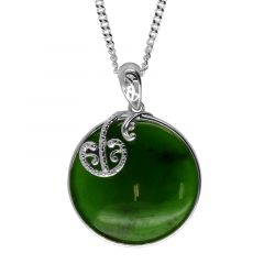 Greenstone pendant in Sterling Silver pendant.