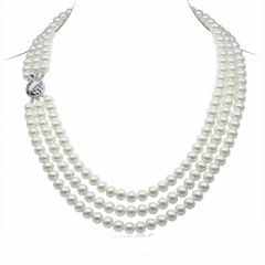 Triple row Pearl necklace