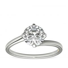 Twist 4 claw engagement ring. SETTING ONLY