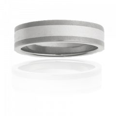 Mens Titanium two tone ring, brushed finish, 5mm wide