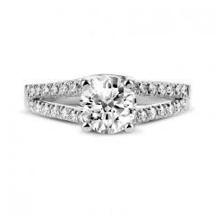 Split band diamond engagement ring. SETTING ONLY