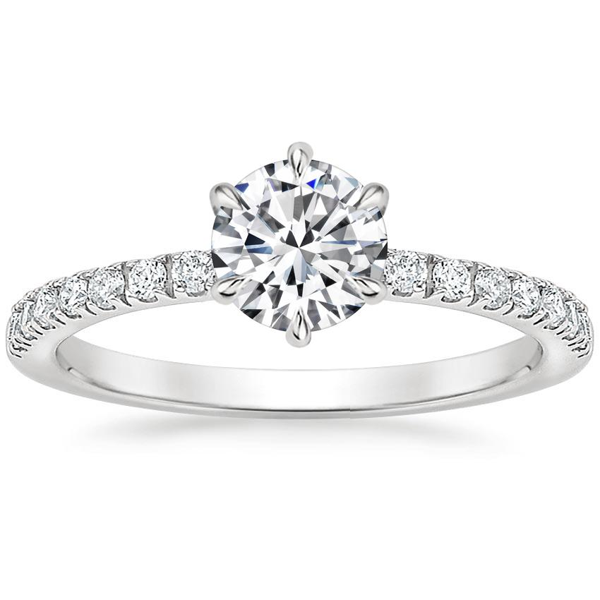 Image result for diamond band engagement ring