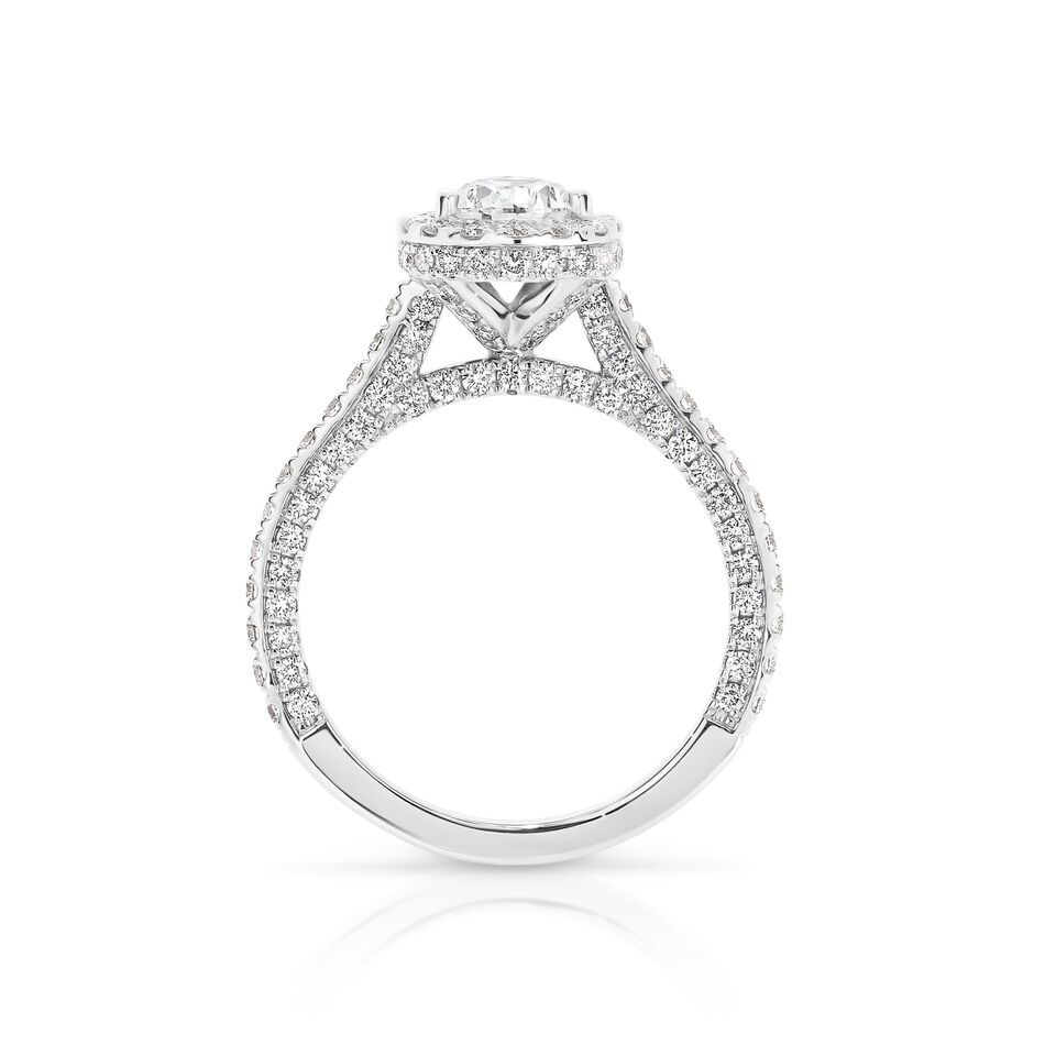 DS Signature micro pave ring
