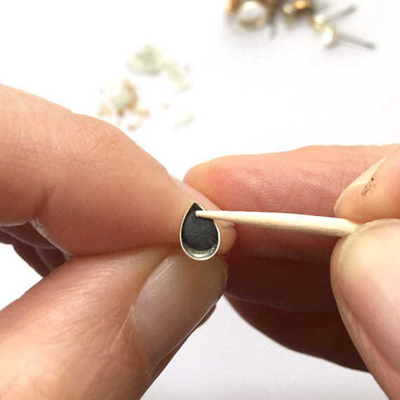 Image result for using toothpick to clean ring