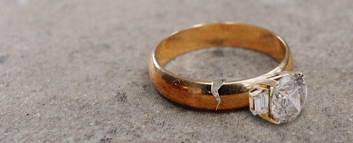 Image result for broken diamond rings